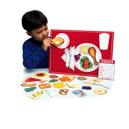 Learning Resources Ler0497 Magnetic Healthy Foods-34 Pieces With Placemat