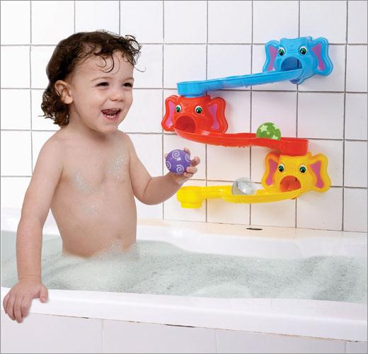 EduShape 505801 Rolliphant Slides Baby Bath Toy