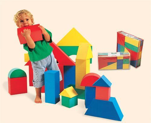 EduShape 700140 Giant Blocks - Set of 32 - 4 1/3