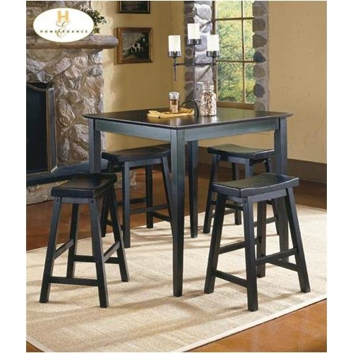 Home Elegance 5302BK-18 Black Sand-Through Saddle Back Stool 18H - Pack of 2