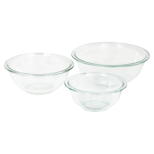 Corningware-Pyrex 6001001 CLR Pyrex 3 piece Mixing Bowl Set - Pack of 2