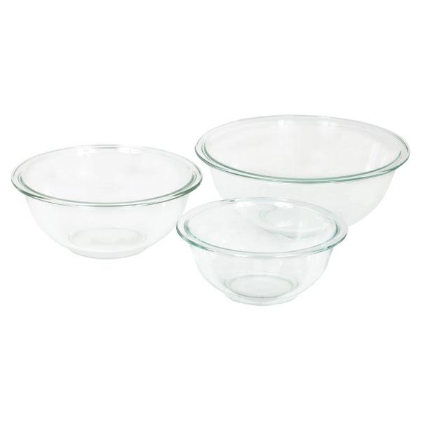 Corningware-Pyrex 6001001 CLR Pyrex 3 piece Mixing Bowl Set - Pack of 2