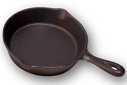 "IWDSC 0166-10137 4.5""Dia. Cast Iron Spoon Rest Skillet"