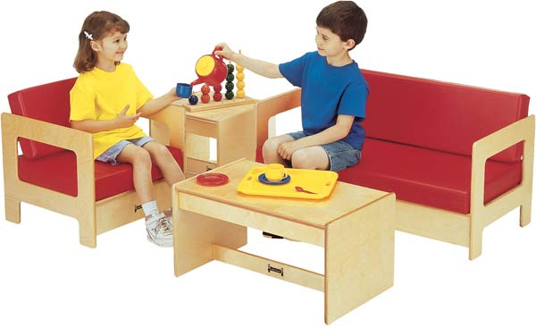 Jonti-Craft 0380TK Thriftykydz Red Living Room Set - 4 Piece