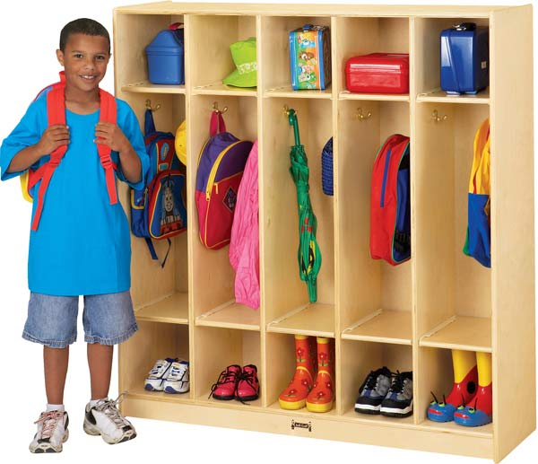 Jonti-Craft 2681TK Thriftykydz Coat Locker - 5 Sections