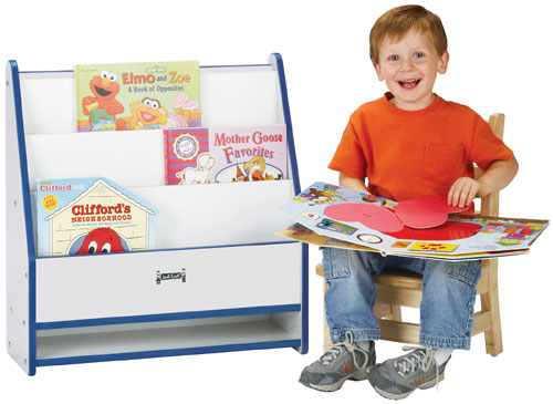 Jonti-Craft 0071JCWW008 TODDLER PICK-a-BOOK STAND - 1 SIDED - RED