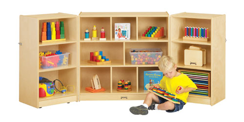 Jonti-Craft 0266JC MOBILE FOLD-n-LOCK STORAGE UNIT