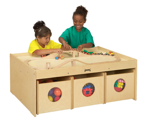 Jonti-Craft 5752JC ACTIVITY TABLE WITH 6 BINS