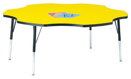 Jonti-Craft 6458JCE210 KYDZ ACTIVITY TABLE - SIX LEAF - 60 INCH  15 INCH - 24 INCH HT - OAK