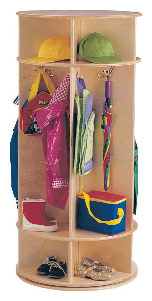 Jonti-Craft 0350JC REVOLVING COAT LOCKER - 5 SECTIONS