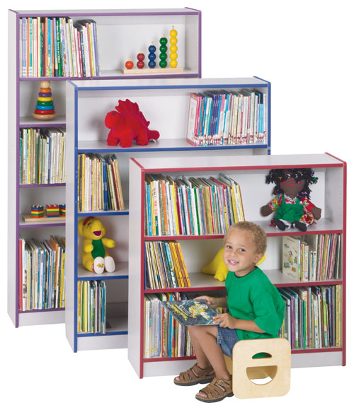 Jonti-Craft 0961JC004 BOOKCASE - 48 INCH HIGH - PURPLE