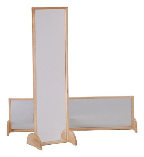 "Jonti-Craft 2171JC 48""H Acrylic Mirror with Wood Frame"