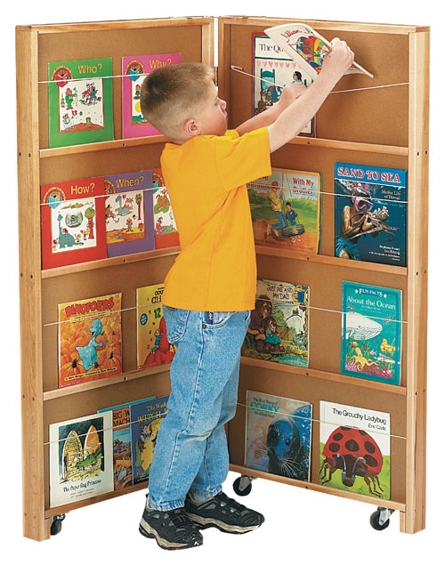 Jonti-Craft 2671JC MOBILE LIBRARY BOOKCASE - 2 SECTIONS