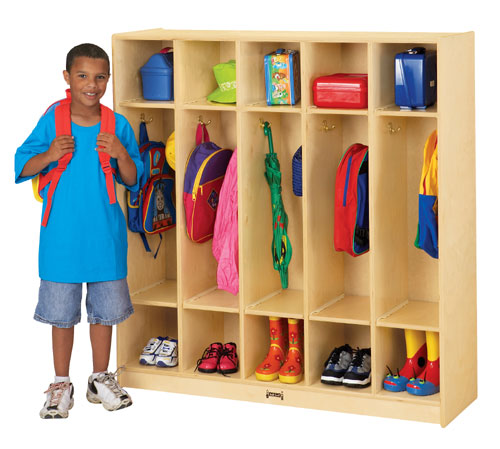Jonti-Craft 2681JC COAT LOCKER - 5 SECTIONS