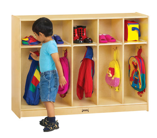 Jonti-Craft 2684JC TODDLER COAT LOCKER - 5 SECTIONS