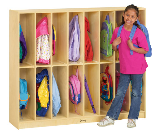 Jonti-Craft 2686JC TWIN TRIM LOCKERS - 16 SECTIONS