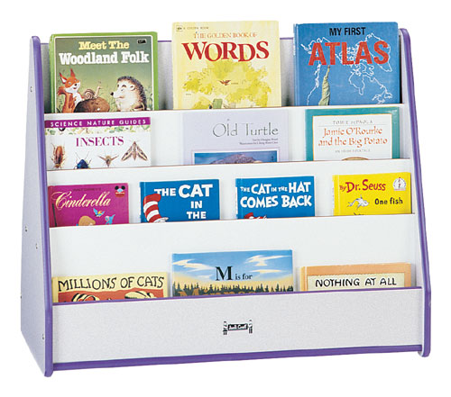 Jonti-Craft 3507JCWW008 MOBILE PICK-a-BOOK STAND - 2 SIDED - RED