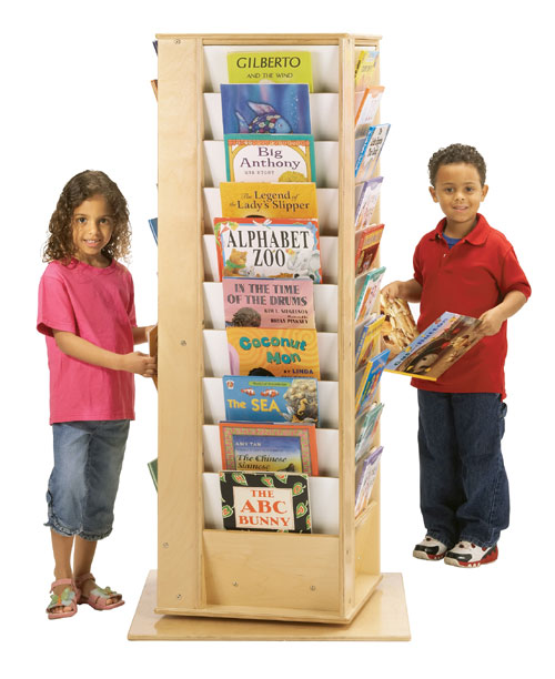 Jonti-Craft 3550JC REVOLVING LITERACY TOWER - LARGE