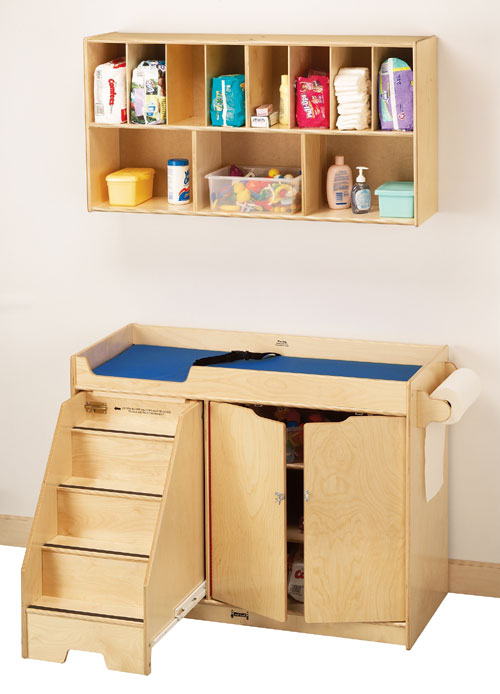 Jonti-Craft 5131JC CHANGING TABLE WITH STAIRS