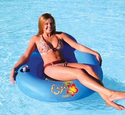 Kwik Tek AHFF-1 Pool Lounge Airhead Fiji Inflatable Float Tube