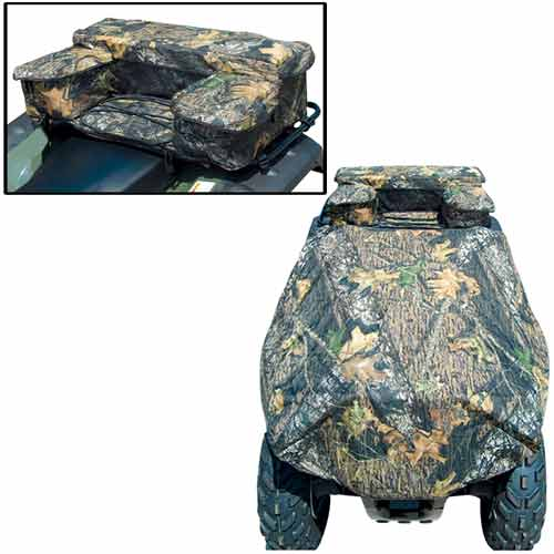 Kwik Tek  ATVCRB-B ATV Rack Combo Bag With Cover  Black