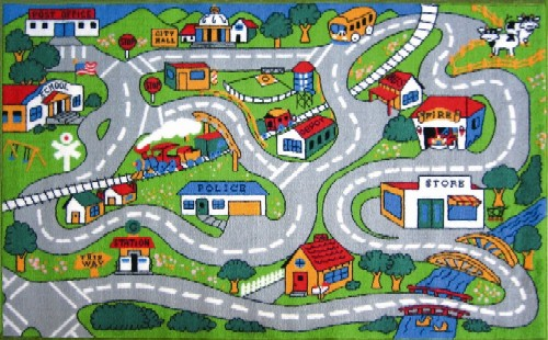 LA Rug FT-003 3958 Fun Time Collection - Country Fun Rug - 39 x 58 Inch
