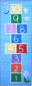 LA Rug FT-191 1929 Fun Time Collection - Primary Hopscotch Rug - 19 x 29 Inch