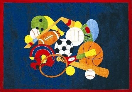 LA Rug GI-51 3958 Fun Time Collection - Sports America Rug - 39 x 58 Inch