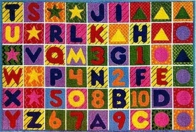 LA Rug TSC-137 3958 Supreme Collection Numbers & Letters  Rug - 39 x 58 Inch
