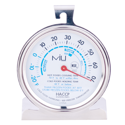 MIU France 90062 NSF Commercial Freezer Thermometer3 Inch Diameter Dial