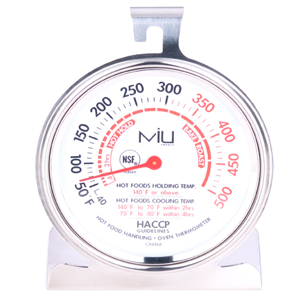 MIU France 90069 NSF Commercial Oven Thermometer3 Inch Diameter Dial