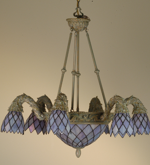 Meyda Tiffany 52044 36 Inch W Diamond Garland 6 Lt Chandelier W/Invert