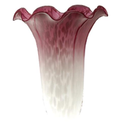 Meyda Tiffany 10187 3.5 Inch W X 5 Inch H White/Pink Lily Shade