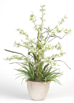 Nearly Natural 1005-GR Dancing Lady Silk Orchid Arrangement