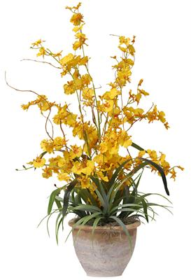 Nearly Natural 1005-YL Dancing Lady Silk Orchid Arrangement