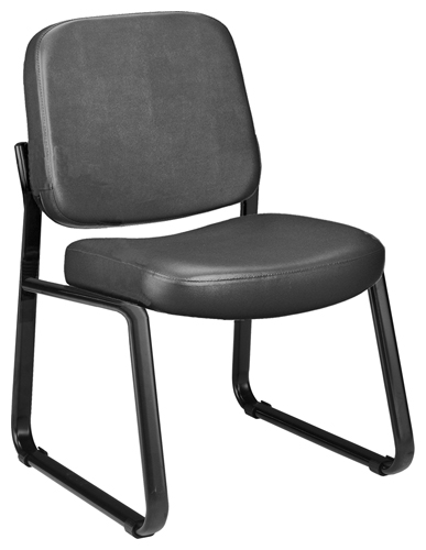 OFM 405-VAM-604 Vinyl Armless Guest-Reception Chair-Charcoal
