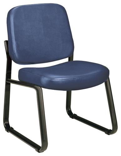 OFM 405-VAM-605 Vinyl Armless Guest-Reception Chair-Navy