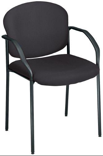 OFM 404-VAM-606 Vinyl Guest-Reception Chair  4 Legs - Black