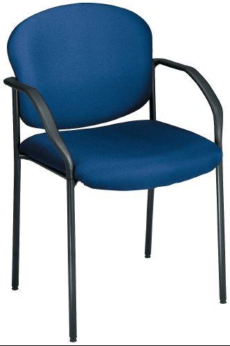 OFM 404-VAM-605 Vinyl Guest-Reception Chair 4 Legs - Navy