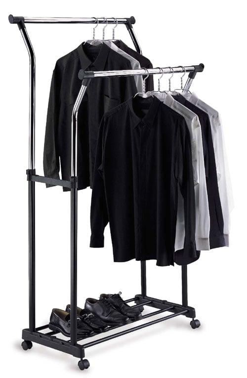Organize It All 1719 Double Adjustable Garment Rack