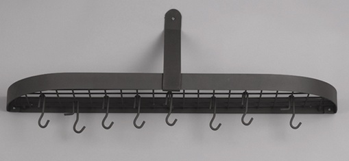 Old Dutch  121GU 36 x 9 x 11.25 Inch Graphite Wall Pot Rack with 12 Hooks