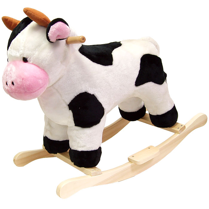 Poker 80-16COW Cow Plush Rocking Animal