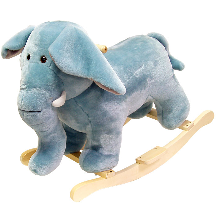 Poker 80-76ELEPHANT Happy Trails Plush Elephant Rocking Animal