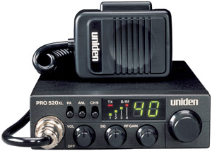 UNIDEN PRO520XL 7-Watt  40-channel Compact CB Radio