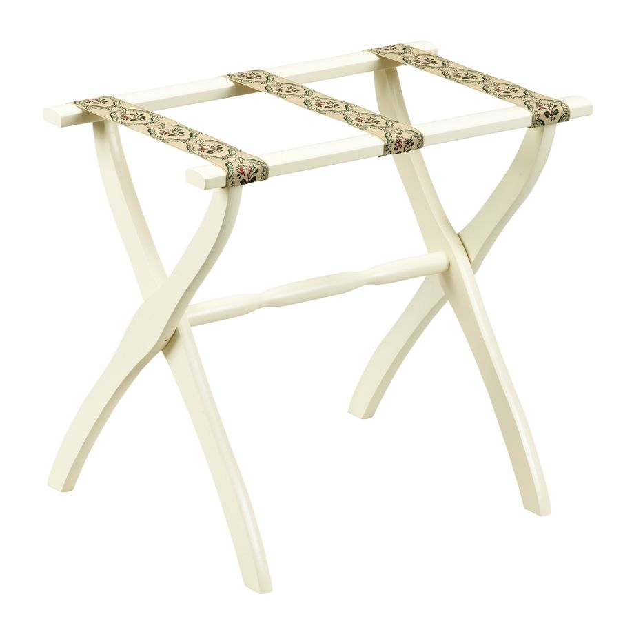 Scheibe 1306 Ivory Luggage Rack with Petit Point Straps - 22 X 13 X 20 Inch