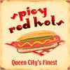 """IWDSC 041-M606 14"""" Metal Spicy Red Hot Dog Tin Sign"""