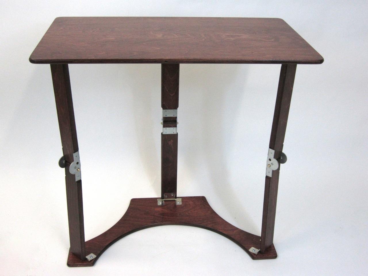 Spiderlegs LD1527-M  Small Folding Laptop Desk-Tray Table - Mahogany