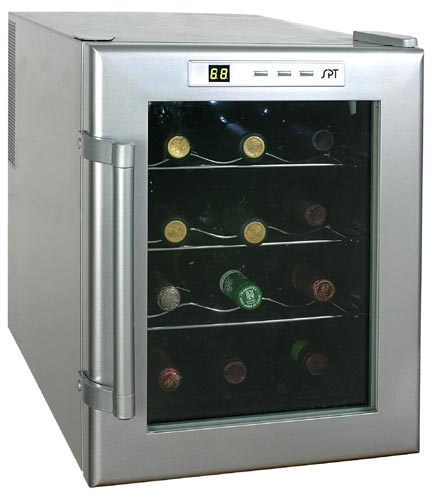 Sunpentown WC-12 12-Bottle Wine & Beverage Cooler semiconductor