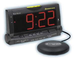 Clarity WAKE Assure Alarm Clock with Bed Shaker