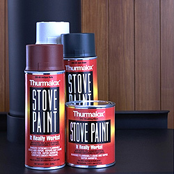 Thurmalox Stove Paint 270-02 Satin Black Stove Paint 12 oz - Case of 12